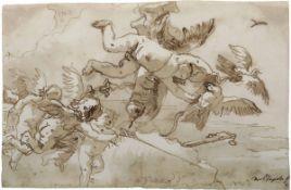 Giandomenico Tiepolo (Venezia 1727-1804), Cupido e amorini - penna e inchiostro bruno [...]