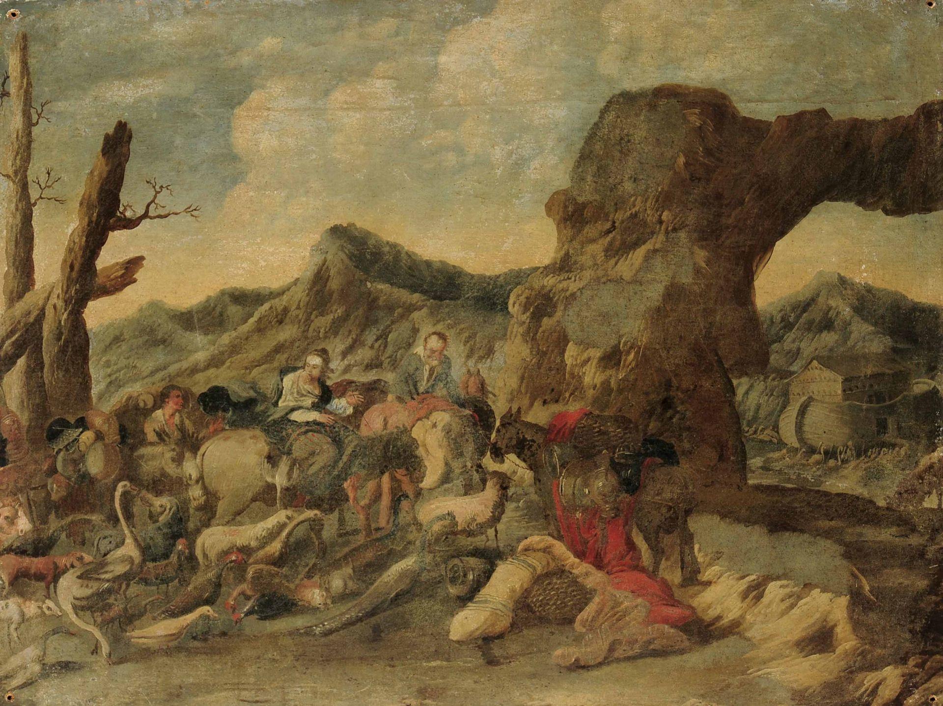 Los 54 - Antonio Travi detto il Sestri (Sestri Ponente 1608 - Genova 1665), Figure con armenti [...]