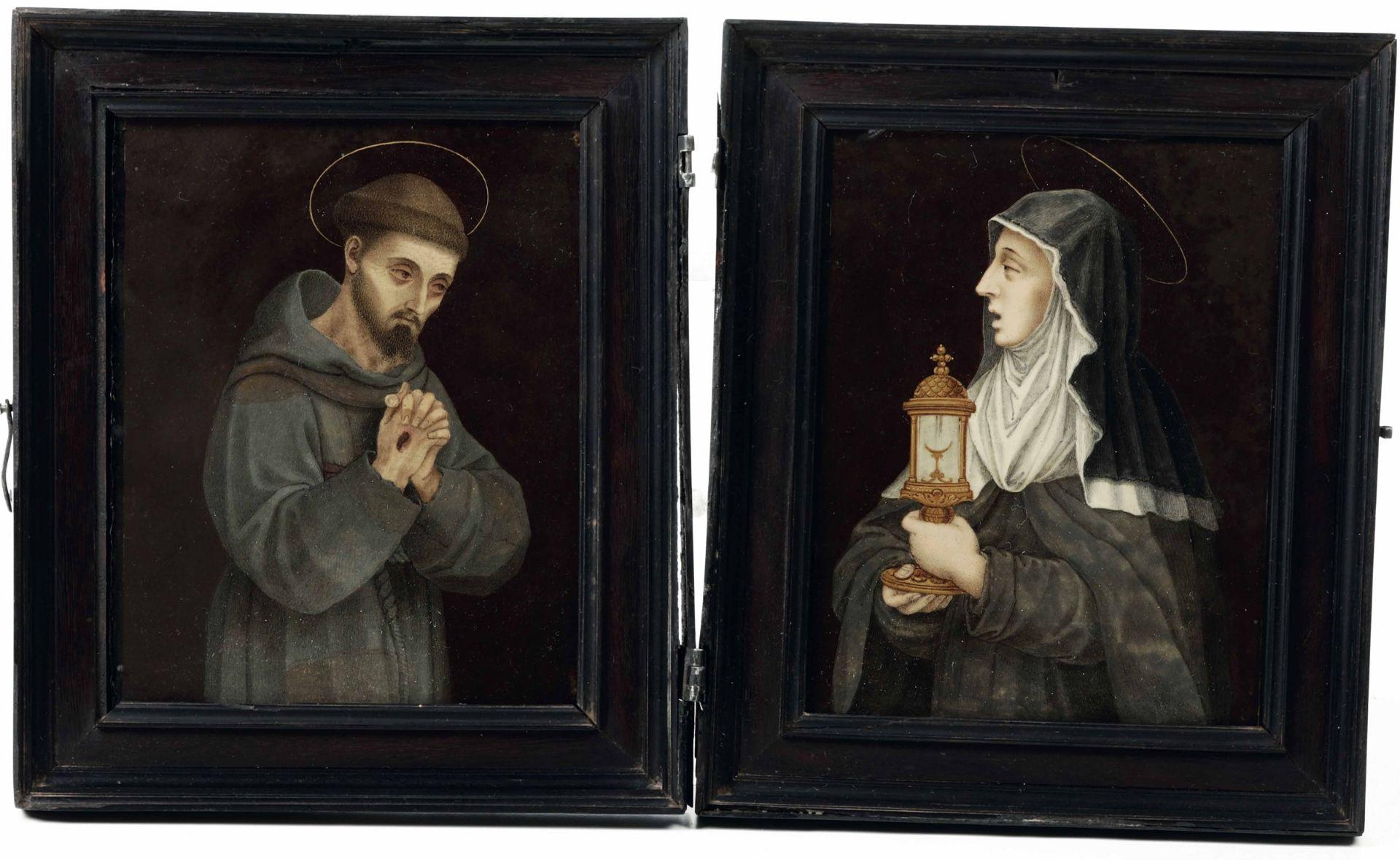 Los 8 - Giovanni Battista Castello (Genova 1547-1637/39), San Francesco e Santa Chiara - [...]