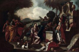 Francesco De Mura (Napoli 1696-1782), ambito di, Cristo e la Samaritana al pozzo - [...]