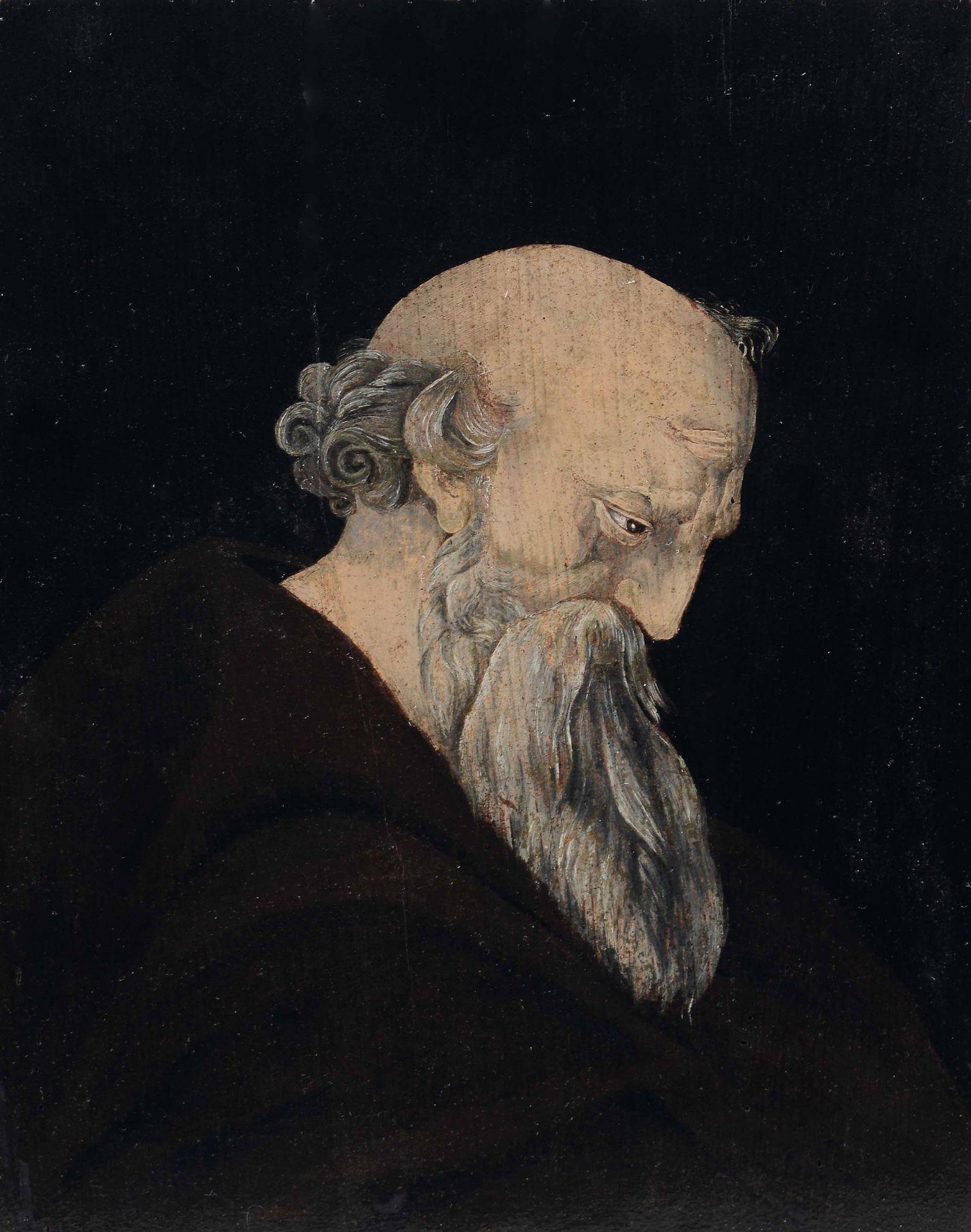Los 41 - Bernardino Genesini (Lendinara 1448-1506), attribuito a, S.Antonio abate - tempera su [...]
