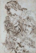 Donato Creti (Cremona 1671 - Bologna 1749), Studio per teste femminili e maschili - [...]