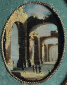 Leonardo Coccorante (Napoli 1680-1750), Capriccio con rovine classiche e figure - [...]