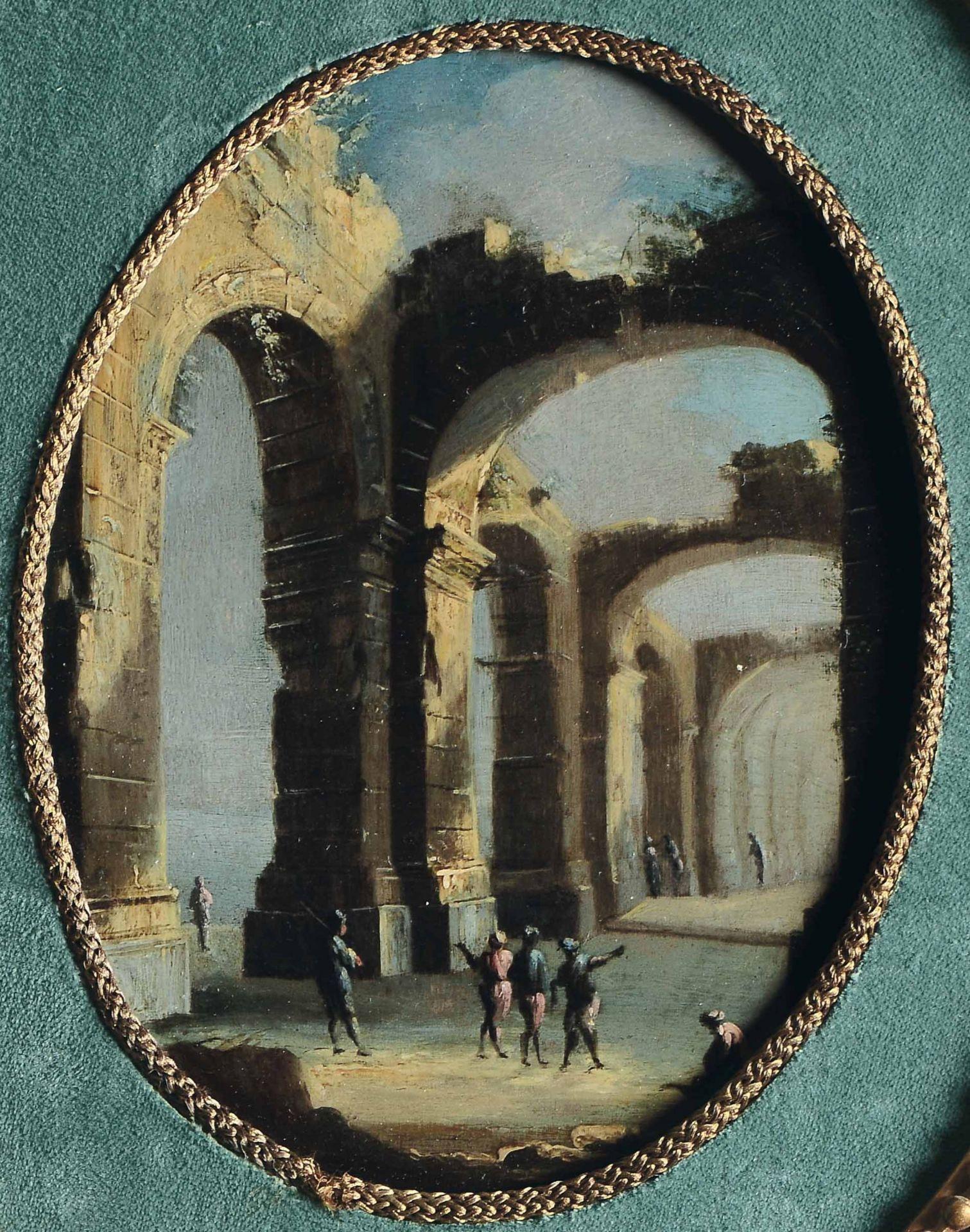 Los 9 - Leonardo Coccorante (Napoli 1680-1750), Capriccio con rovine classiche e figure - [...]