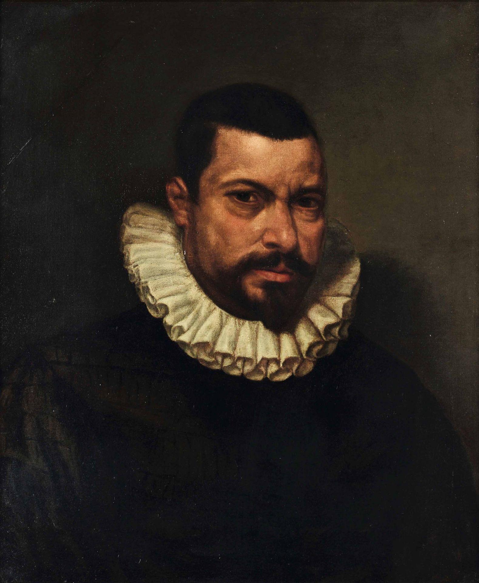 Los 17 - Felice Ricci detto il Brusasorzi (Verona 1540-1605), Ritratto a mezzobusto di uomo [...]
