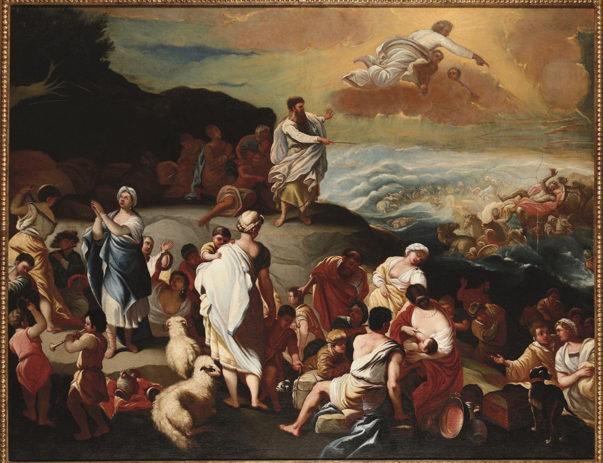 Los 26 - Luca Giordano (Napoli 1634-1705), copia da, La traversata del Mar Rosso - olio su [...]