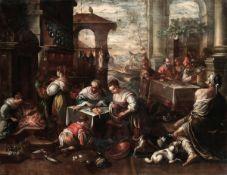 Leandro Bassano (Bassano del Grappa 1557 - Venezia 1622), attribuito a, La cena del [...]