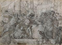 Giovan Battista Carlone (Genova 1603 - Parodi Ligure 1684), David e Saul - penna, [...]