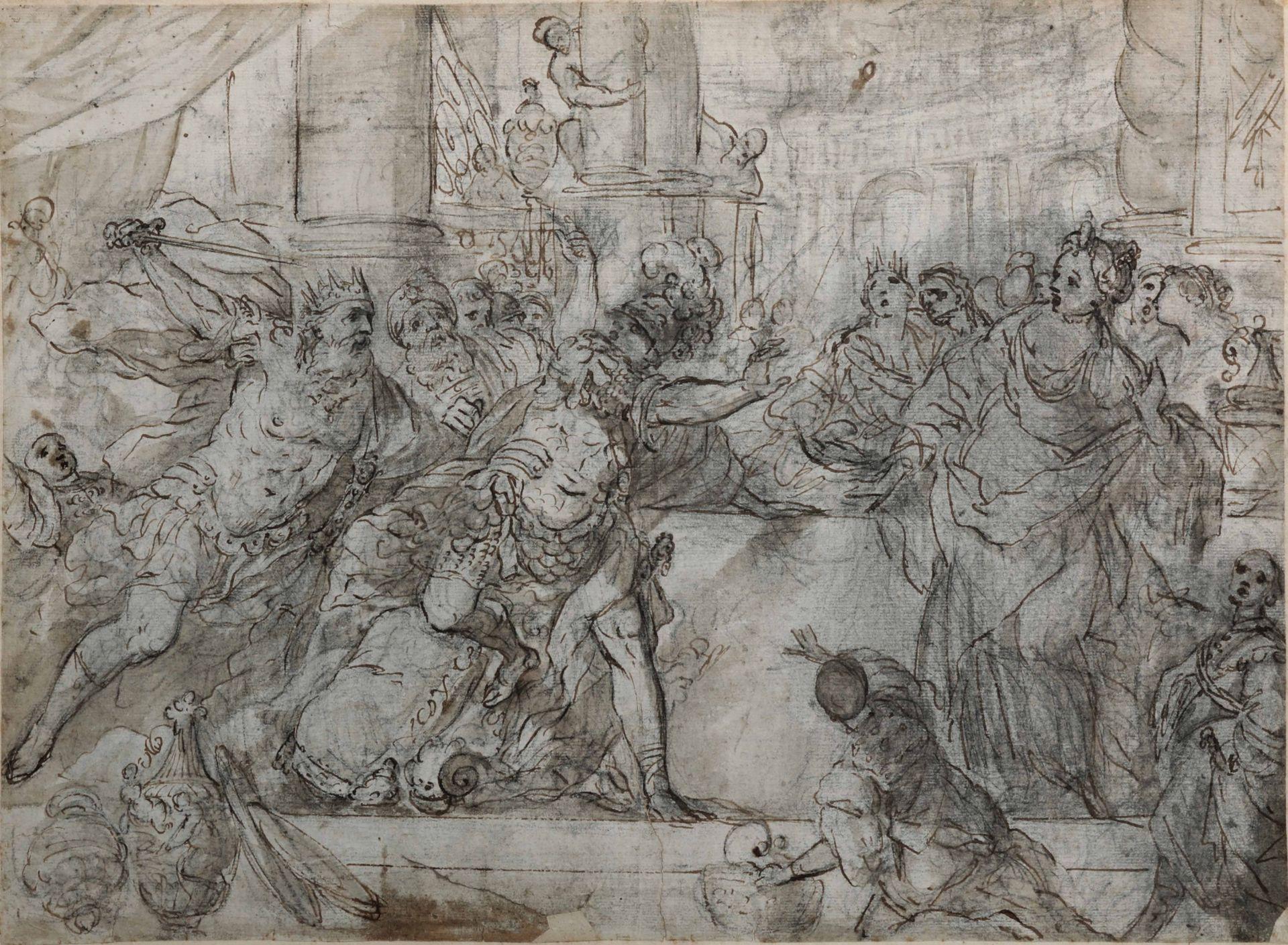 Los 3 - Giovan Battista Carlone (Genova 1603 - Parodi Ligure 1684), David e Saul - penna, [...]