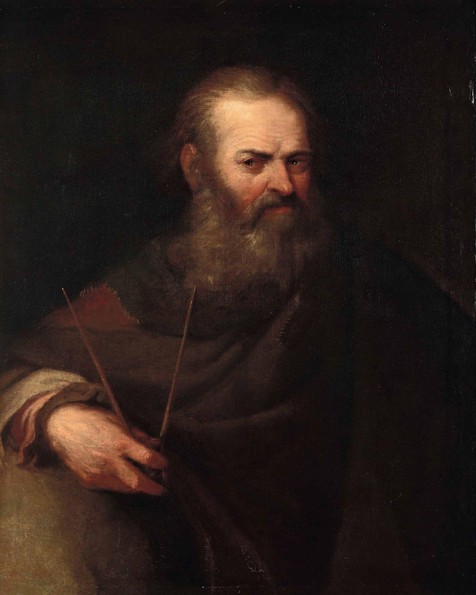 Los 19 - Scuola del nord Europa del XVII-XVIII secolo, Ritratto di astronomo - olio su tela, [...]