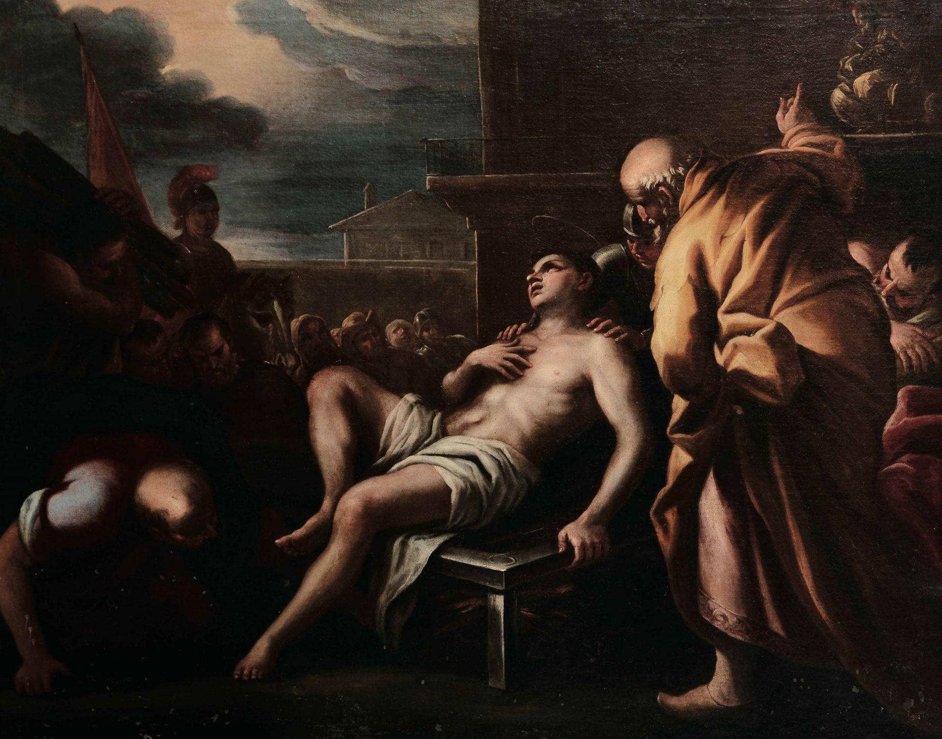 Los 51 - Scuola napoletana del XVII secolo, Martirio di San Lorenzo - olio su tela, cm 102x129 -