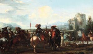 Jaques Courtois detto il Borgognone (Saint Hyppolite 1621 - Roma 1676), L'adunata [...]