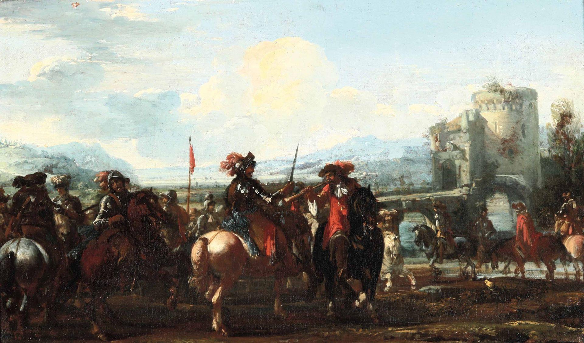 Los 55 - Jaques Courtois detto il Borgognone (Saint Hyppolite 1621 - Roma 1676), L'adunata [...]