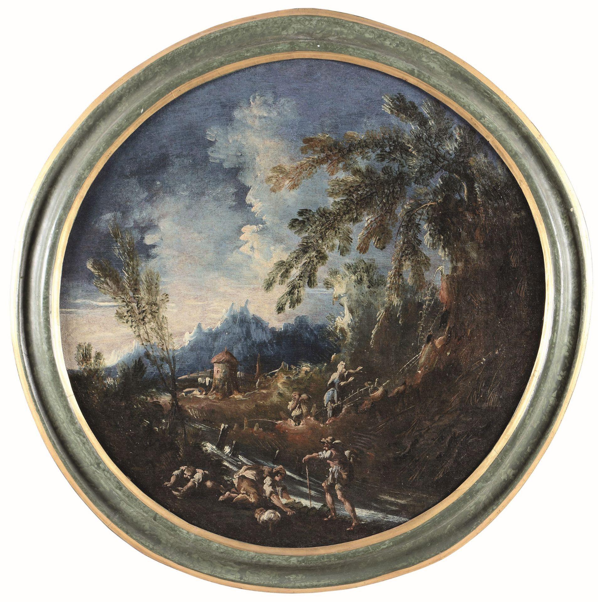 Anton Francesco Peruzzini (Ancona 1643 - Milano 1724), Paesaggio con pastori e [...] - Bild 2 aus 4