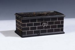 Italy or Germany, 17th century, Rectangular casket - wood and ivory, cm 17x8,5x7,5 -
