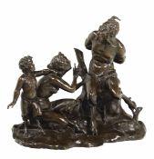 Pan e Siringa. Bronzo fuso e cesellato, Francia (?) probabile XVII secolo, - cm [...]