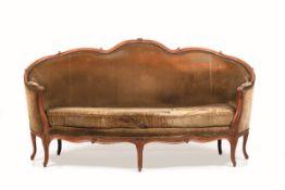 Divano Luigi XV a corbeille in legno intagliato, Francia XVIII secolo, - schienale [...]