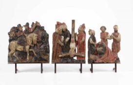 Magi a cavallo, martirio di San Pietro e San Paolo. Rilievi in legno policromo Arte [...]