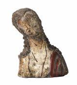 Ecce Homo Busto in creta policroma. Plasticatore spagnolo del XVI secolo, - cm [...]