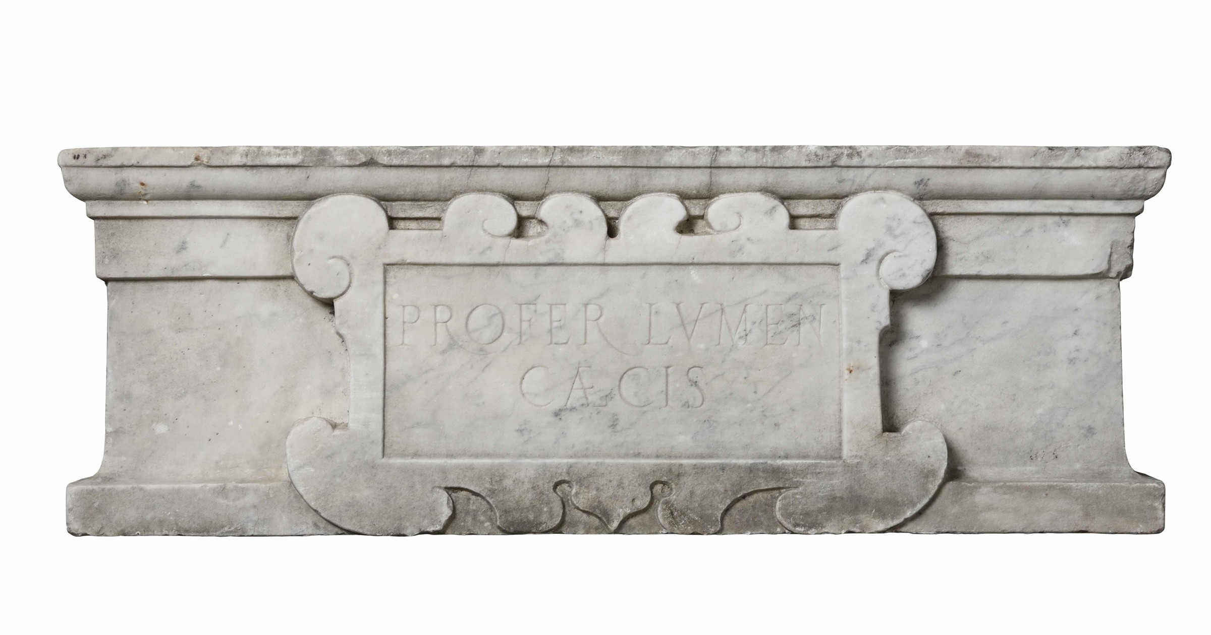 Lot 110 - Architrave in marmo scolpito. Lapicida del XV secolo e interventi successivi, - cm [...]