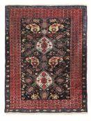 Tappeto Zeichur, Caucaso ultimo quarto XIX secolo, - fondo nero ossidato con [...]