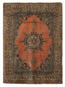 Tappeto Tabriz, Persia inizio XX secolo, - elegante campo mattone con medaglione [...]