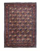 Tappeto Bidjar, Persia inizio XX secolo, - particolare il campo blu con mazzi di [...]