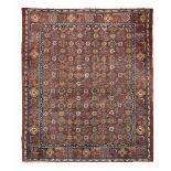 Tappeto Mahal, nord ovest Persia prima metò XX secolo, - campo rosso con griglia [...]