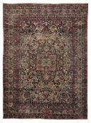Tappeto Kirman, Persia inizio XX secolo, - campo floreale, firmato nella testata [...]