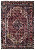 Tappeto Sennhe, Persia inizio XX secolo, - campo blu con medaglione chiaro [...]