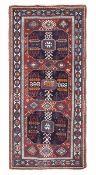 Tappeto Shirvan, Caucaso fine XIX inizio XX secolo, - campo blu con medaglioni [...]