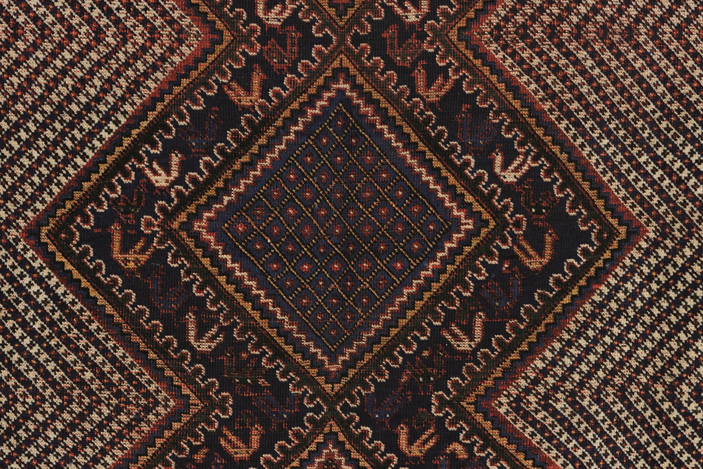 Tappeto Kamseh, sud Persia fine XIX inizio XX secolo, - particolare il campo con tre [...] - Image 4 of 5