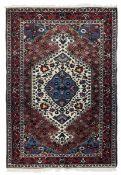 Tappeto Baktiary, Persia inizio XX secolo, - campo con medaglione bianco,cm200x135 -