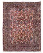 Tappeto Kashan, Persia inizio XX secolo, - più raro il campo rosso senza medaglione [...]