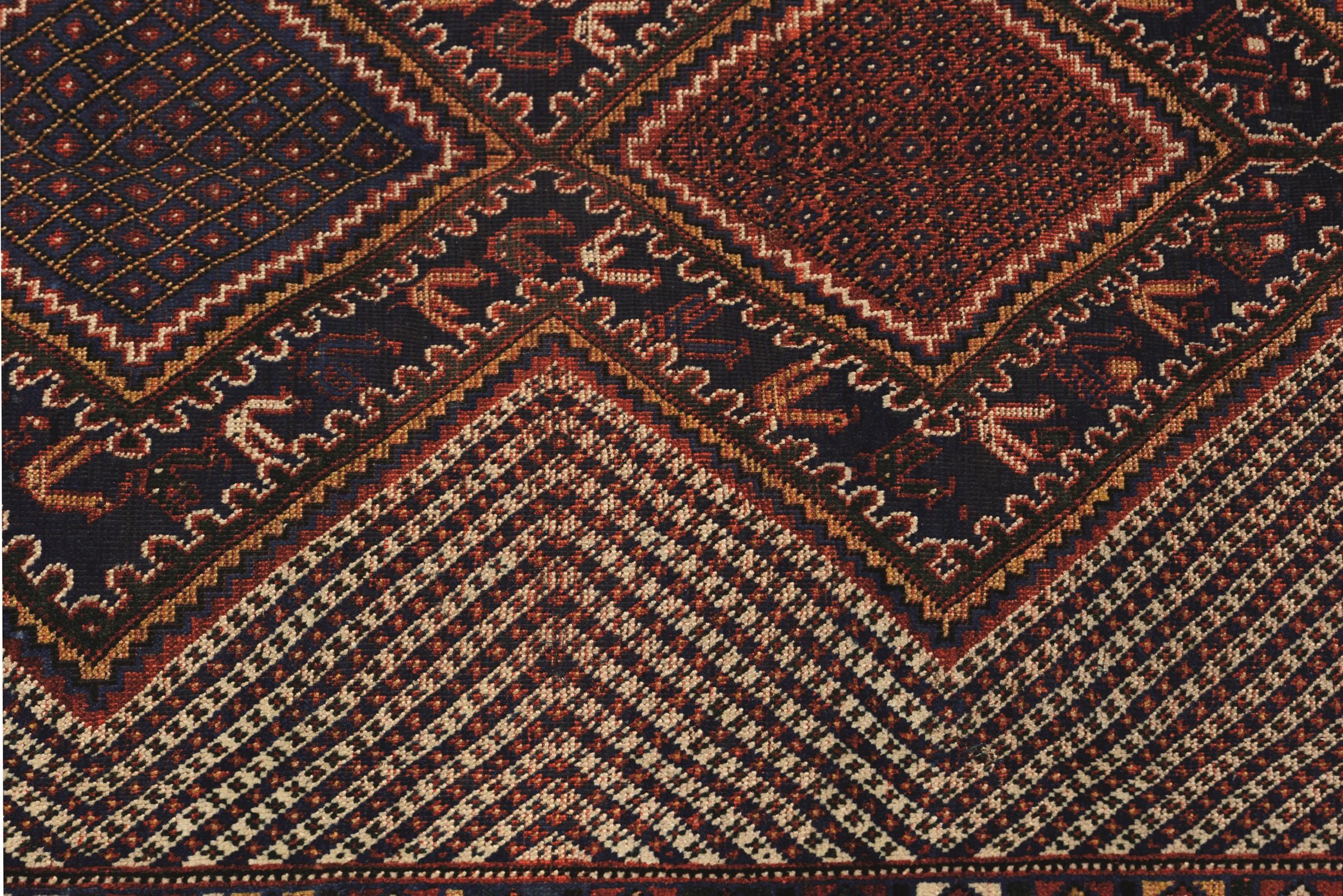 Tappeto Kamseh, sud Persia fine XIX inizio XX secolo, - particolare il campo con tre [...] - Image 3 of 5