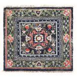 Mat Tibet, fine XIX secolo, - particolare la bordura di colore verde cm 65x72 -