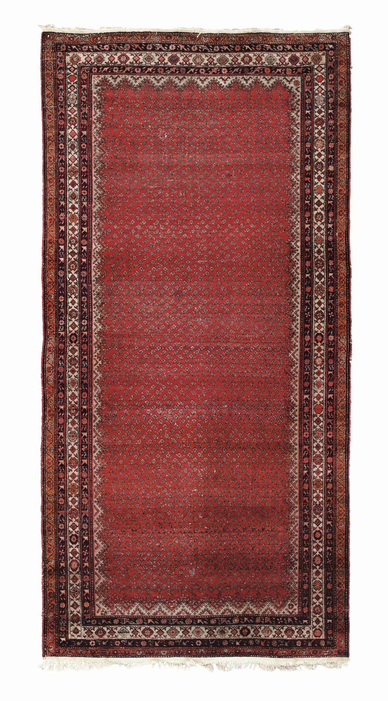 Kelley Ferahan, Persia inizio XX secolo, - campo rosso con piccole bohte, cm380x181 -
