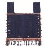 Coperta da cavallo Quashqai, Sud Persia inizio XX secolo, - tela blu indaco con [...]