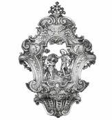 Acquasantiera in argento sbalzato, traforato e cesellato. Genova quinto decennio del [...]