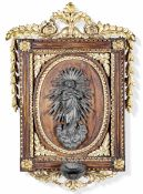 Acquasantiera in argento sbalzato e cesellato. Genova probabile XIX secolo, - cm [...]