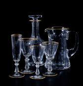 """Servizio di calici """"Crown Gold"""" Belgio, Manifattura Val Saint Lambert, seconda metà [...]"""
