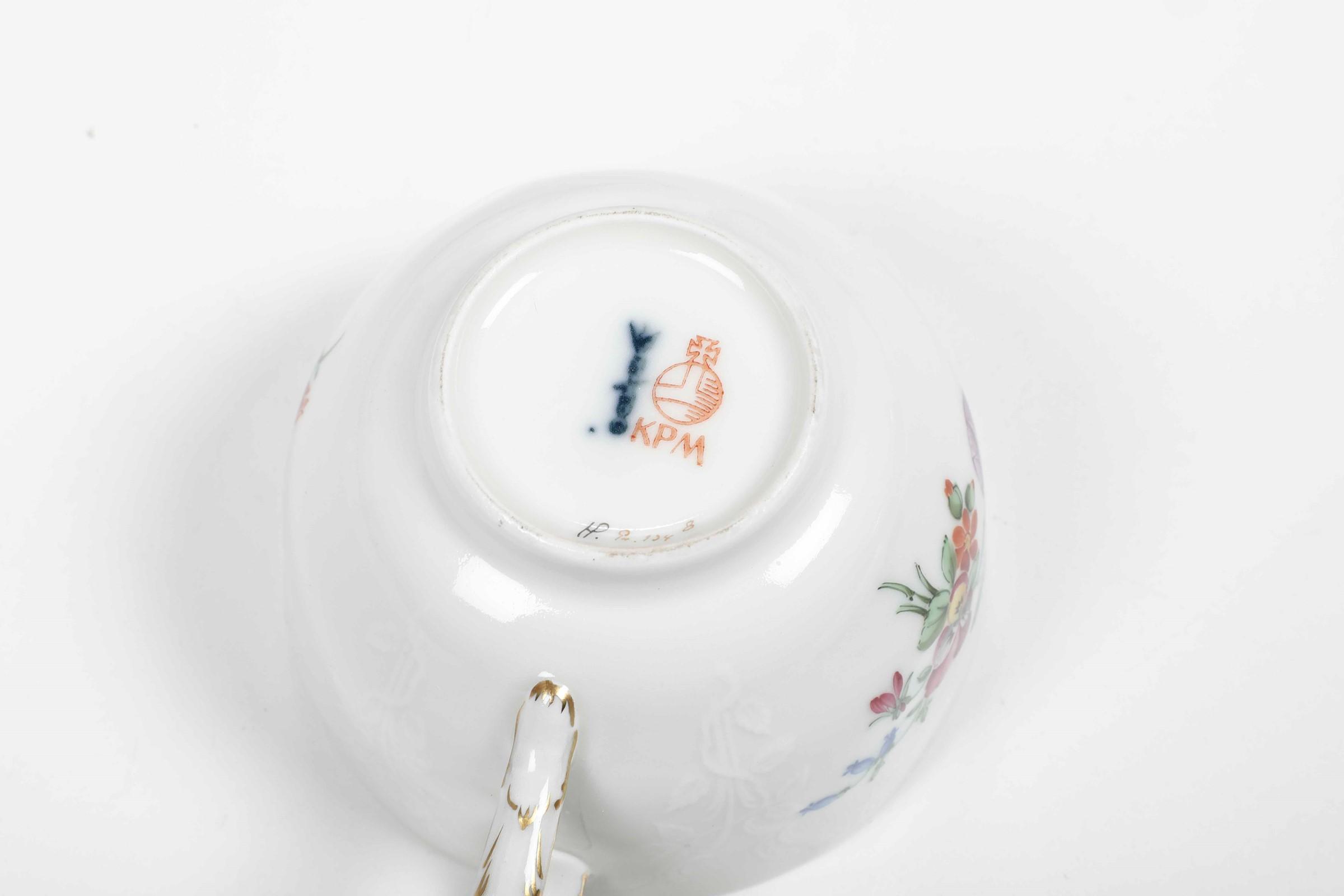 Servizio da tè Berlino, Manifattura Reale, terzo quarto del XX secolo, - [...] - Image 2 of 2