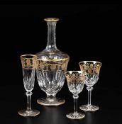 Raro servizio di bicchieri Francia, manifattura Saint Louis, XX secolo, - Cristallo. [...]