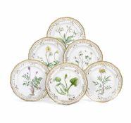 Sei piatti dal servizio Flora Danica Danimarca, Manifattura Royal Copenhagen, fine [...]