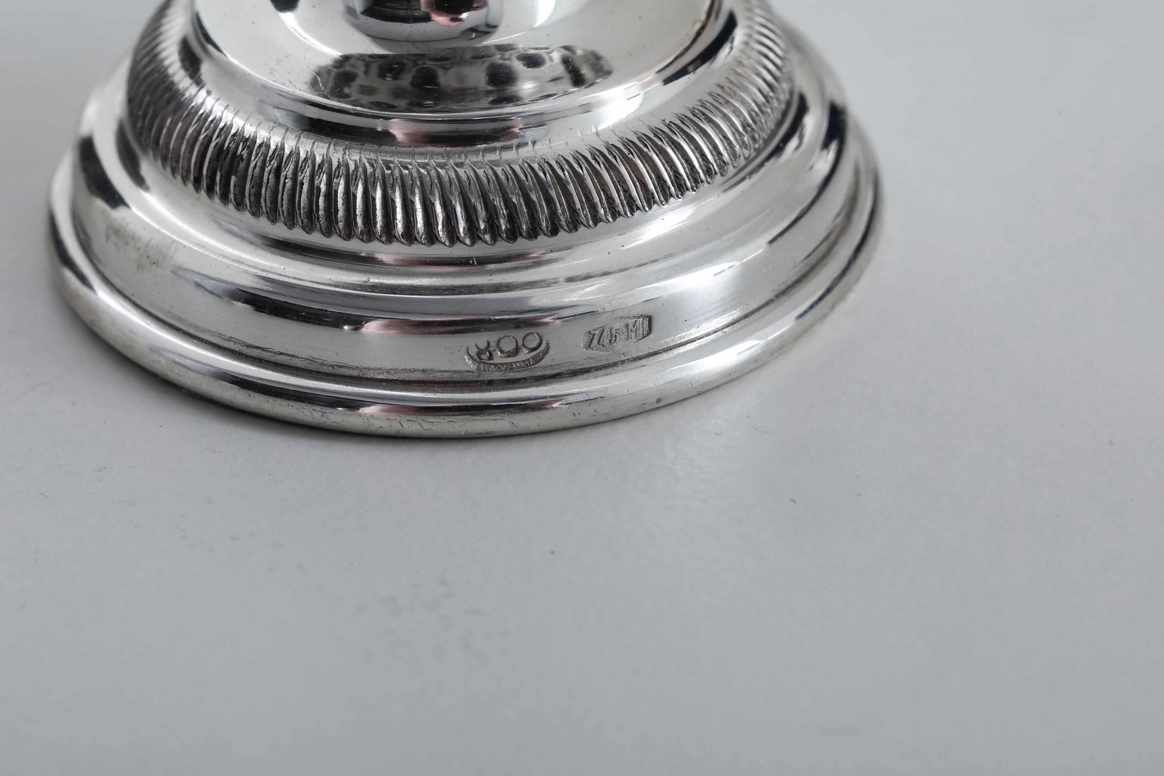 Sei segnaposto in argento e legno a foggia di animali da caccia. Argenteria italiana [...] - Image 3 of 3