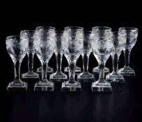 Dodici calici da liquore Inizio del XIX secolo, - Cristallo. Marca assente. Altezza [...]