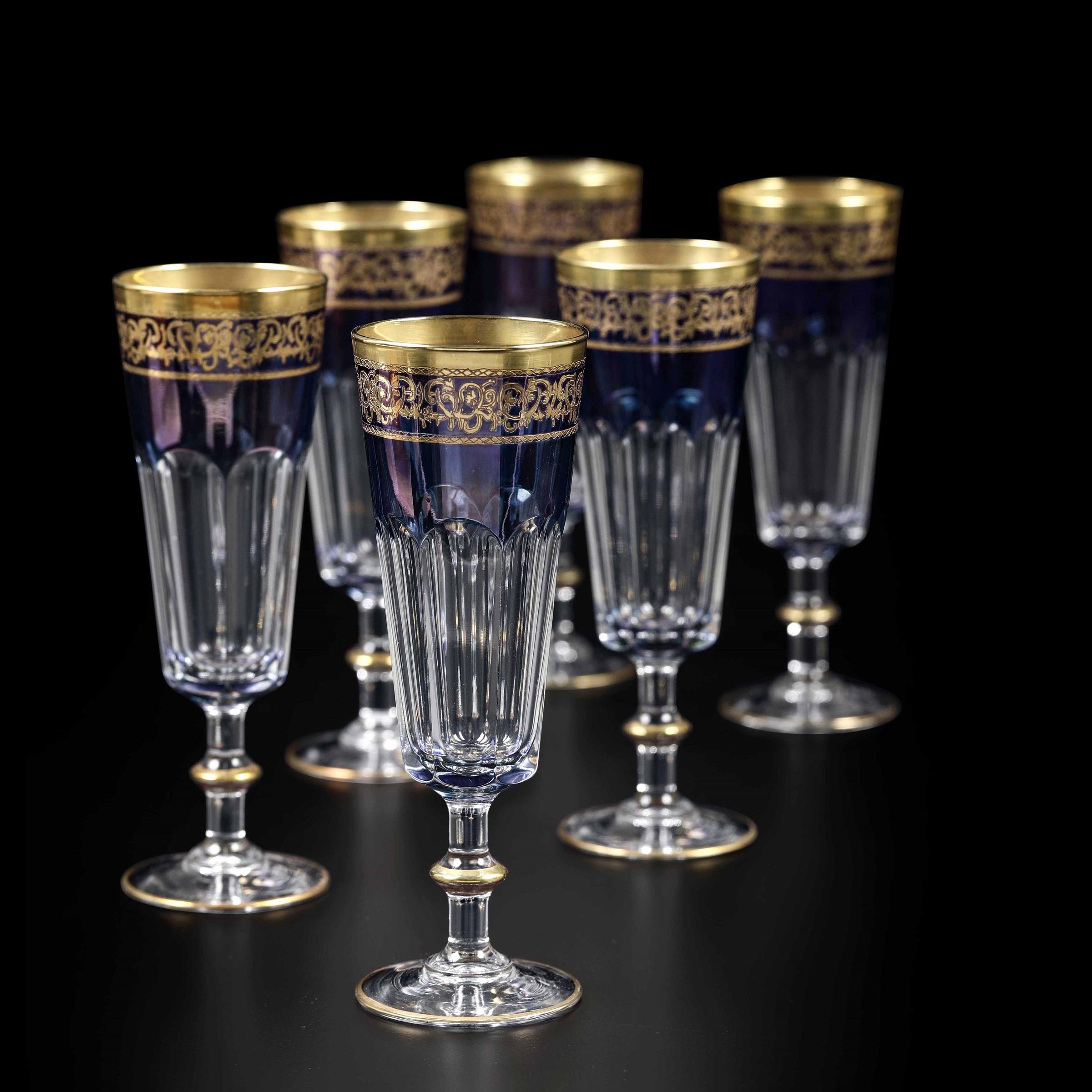 Ventidue flûte Francia, Arques, Manifattura Luminarc, seconda metà del XX secolo, [...]