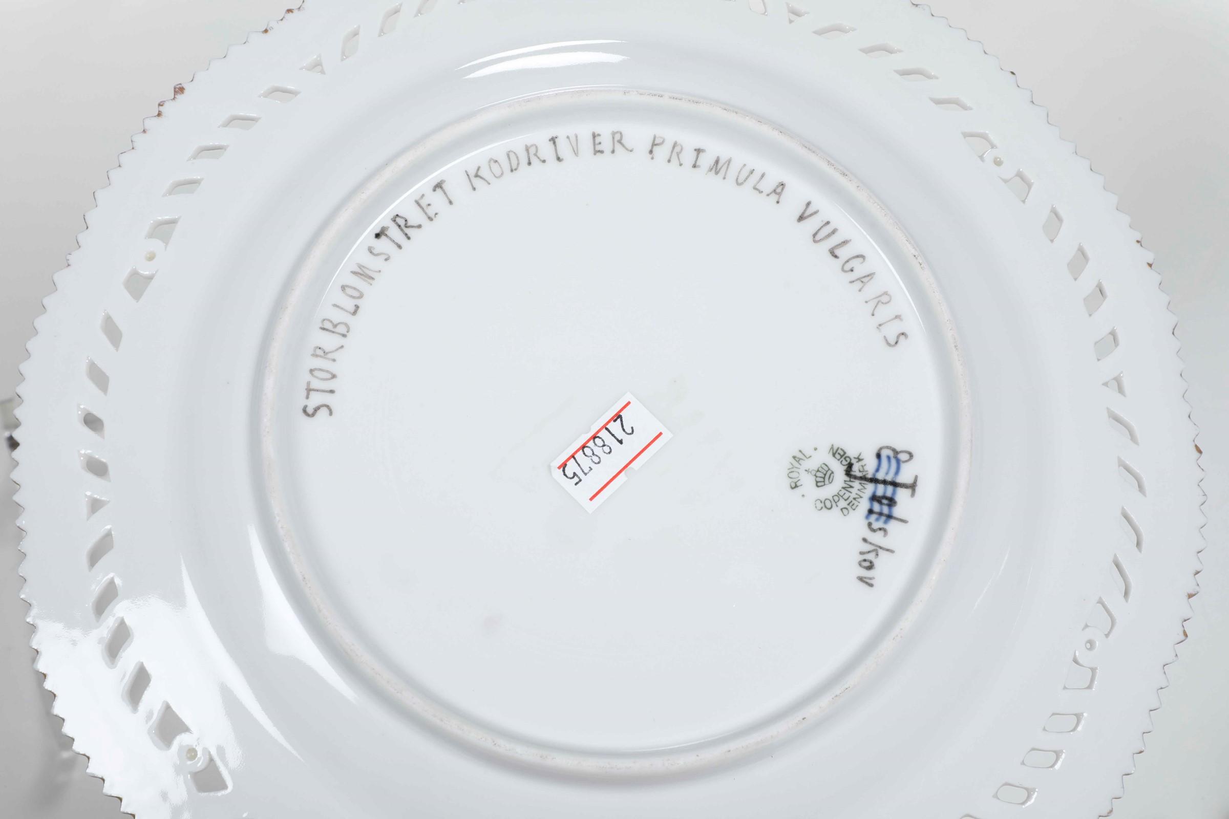 Sei piatti dal servizio Flora Danica Danimarca, Manifattura Royal Copenhagen, fine [...] - Image 3 of 3