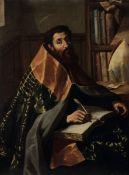 Gregorio Preti (Taverna 1603 - Roma 1672), Sant'Agostino nello studio - olio su tela, [...]
