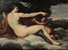 Luca Ferrari (Reggio Emilia 1605 - Padova 1654), ambito di, Venere e Amore - olio su [...]